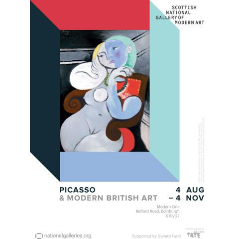 Picasso & Modern British Art Exhibition Poster