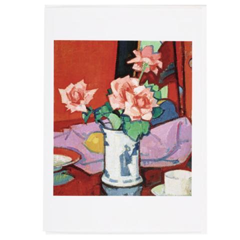 Pink Roses, Chinese Vase Samuel John Peploe Greeting Card