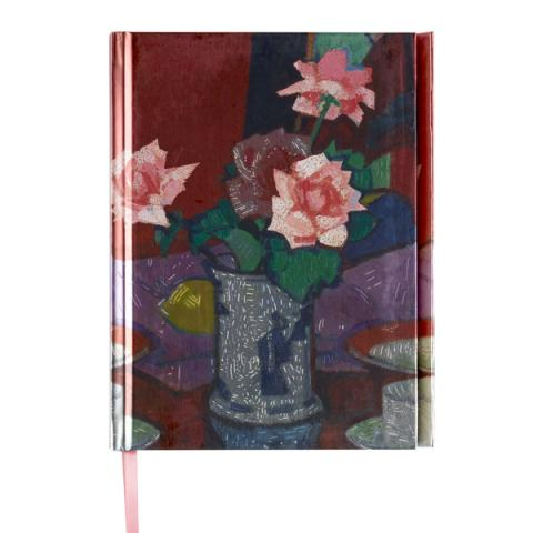 Pink Roses, Chinese Vase by Samuel John Peploe A5 foil cover notebook