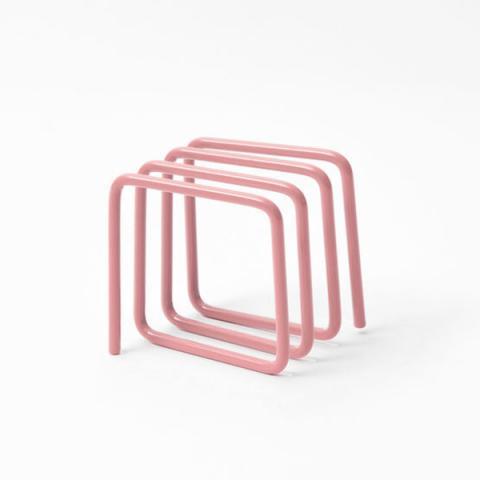 Pink loop letter rack