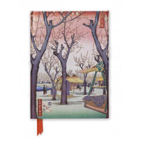 Plum Garden, Kamata 1857 by Utagawa Hiroshige A5 foil cover notebook
