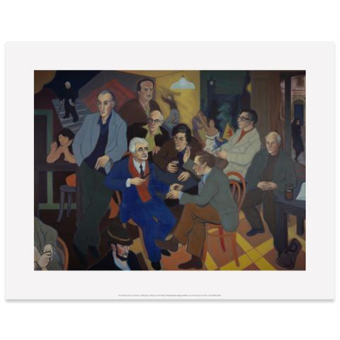 Poets' Pub Alexander Moffat Art Print