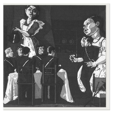Polly put the kettle on by Paula Rego greeting card