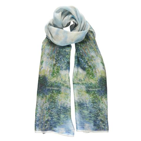 Poplars on the Epte by Claude Monet silk scarf