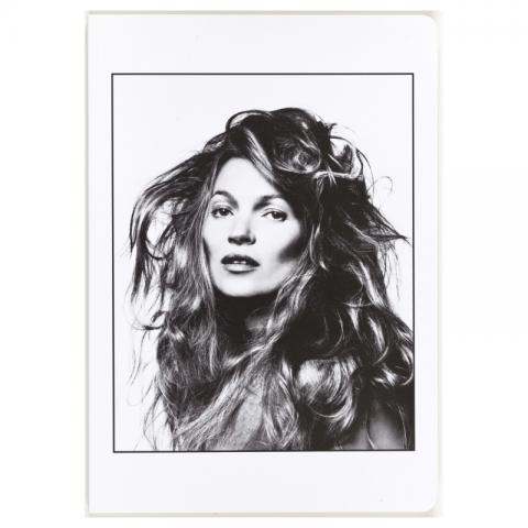 Portrait of Kate Moss by David Bailey A5 notebook