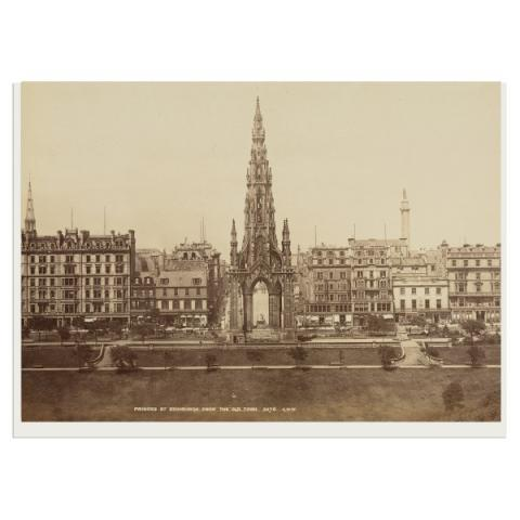 Princes Street from the Old Town greeting card