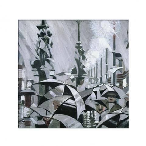 Rain on Princes Street Stanley Cursiter Magnet