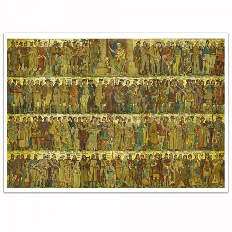 Processional Frieze by William Brassey Hole art print
