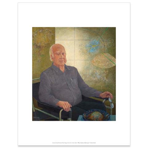 Professor Peter Higgs by Victoria Crowe art print