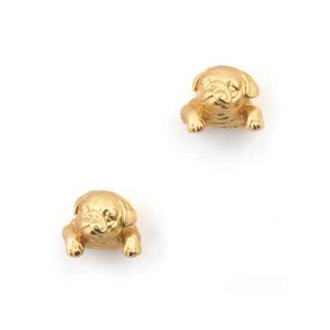 Bill Skinner Pug Puppy Stud Earrings