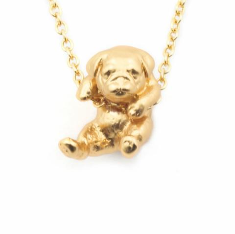 Bill Skinner Pug Puppy Necklace