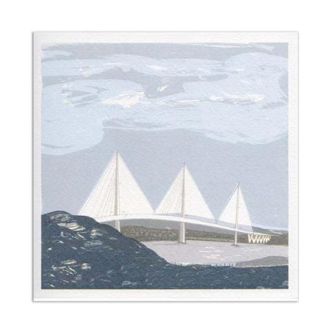Queensferry crossing greeting card