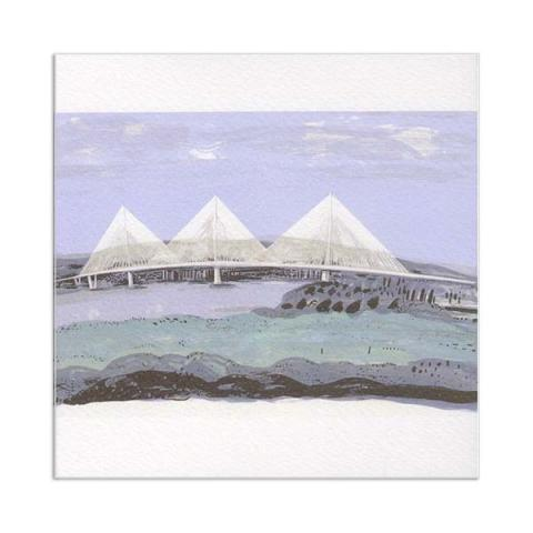 Queensferry crossing view greeting card