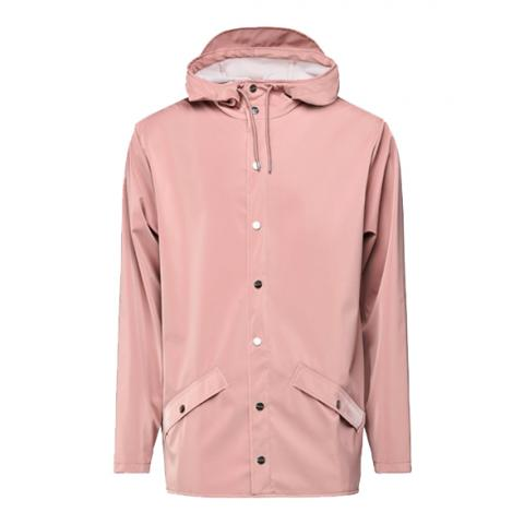 Waterproof coral pink unisex jacket XS/S