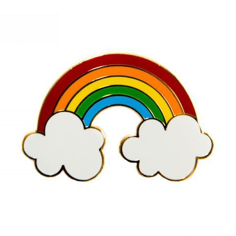 Acorn & Will Rainbow Enamel Pin