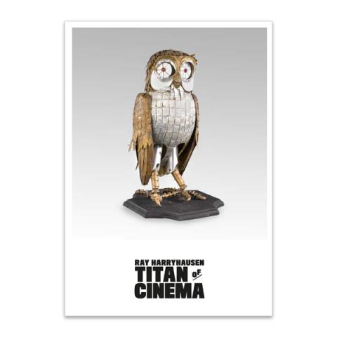 Bubo model from Clash of the Titans A5 postcard