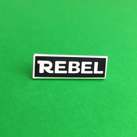 Rebel black enamel pin