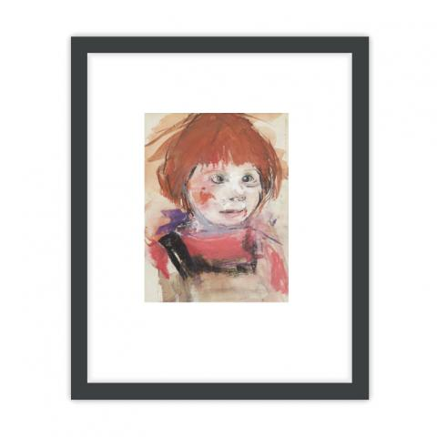 Red Haired Girl by Joan Eardley ready to hang framed print