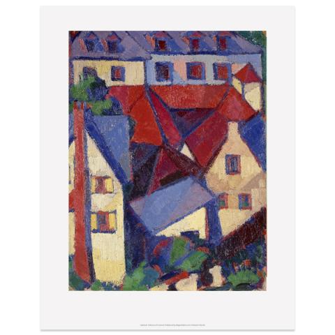 Red Roofs (Dieppe) by Margaret Morris art print