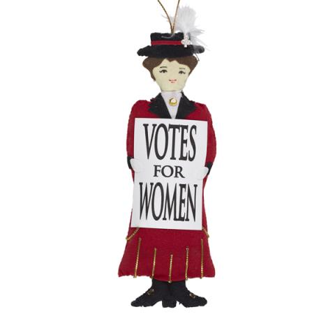 Red Suffragette Christmas Decoration