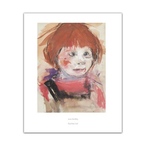 Red haired girl by Joan Eardley poster print
