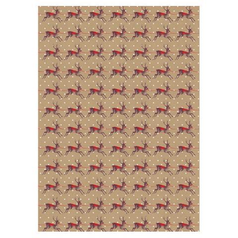 Reindeer gift wrap (single sheet)