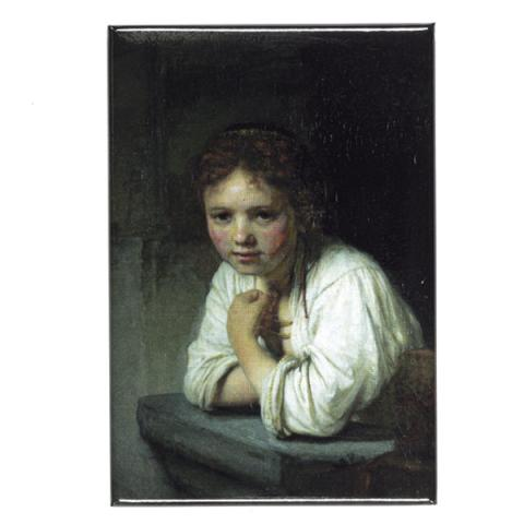 Girl At A Window Rembrandt Magnet