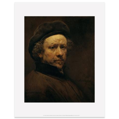 Self-Portrait Rembrandt Art Print