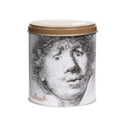 Surprised Self Portrait Rembrandt Waffle Tin