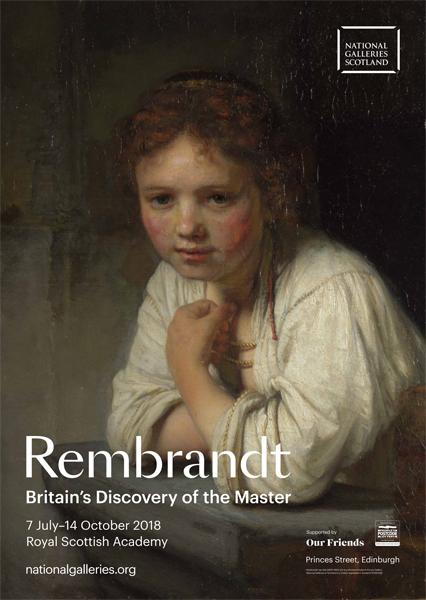Britain's Discovery of the Master Rembrandt Exhibition Poster