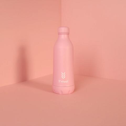 Reusable pastel pink 550ml (19oz) water bottle