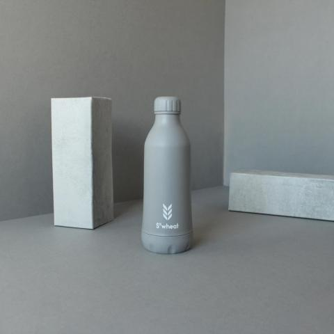 Reusable slate grey 550ml (19oz) water bottle