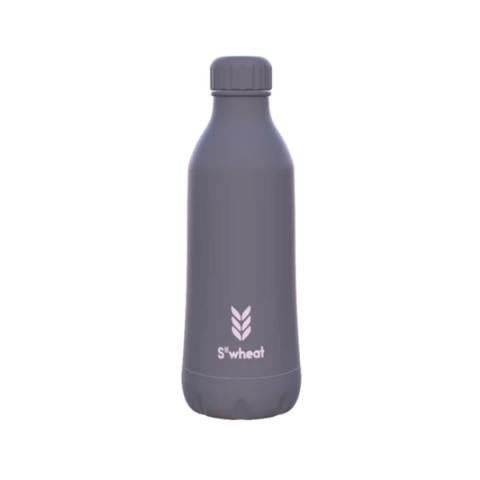 Reusable slate grey 550ml (19oz) water bottle