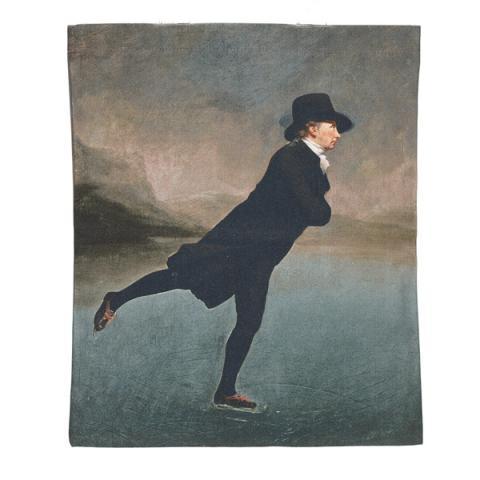 Reverend Robert Walker by Sir Henry Raeburn tea towel