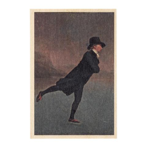 Reverend Robert Walker by Sir Henry Raeburn wooden postcard
