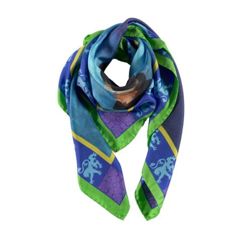 Reverend Walker square silk scarf
