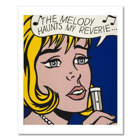 Reverie by Roy Lichtenstein greeting card