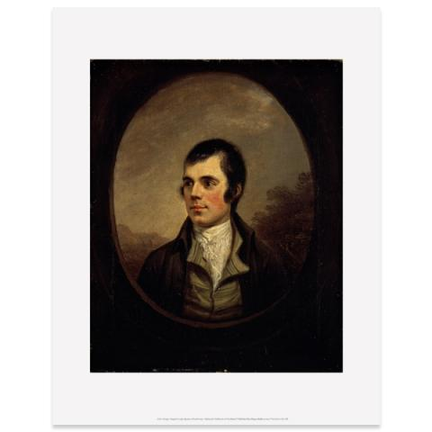 Robert Burns (oval) Alexander Nasmyth Art Print