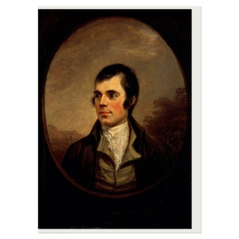 Robert Burns (oval) by Alexander Nasmyth greeting card
