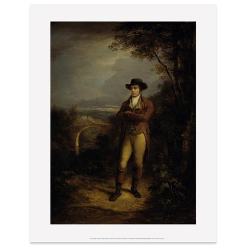 Robert Burns (standing) by Alexander Nasmyth art print