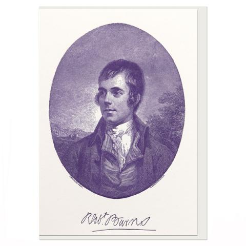 Robert Burns by Alexander Nasymth greeting card