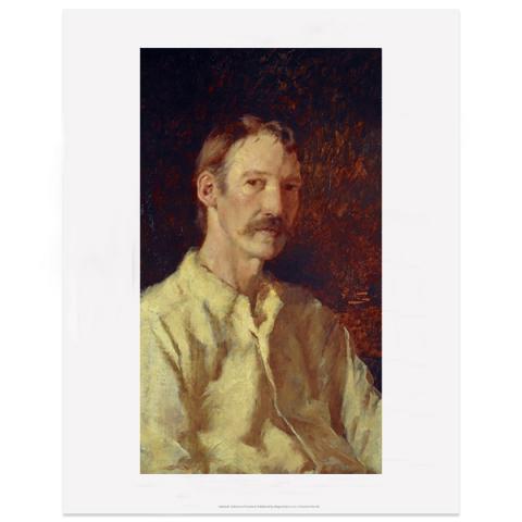 Robert Louis Stevenson by Count Girolamo Nerli art print