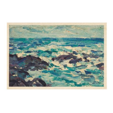 Rocks at Barra by Samuel John Peploe wooden postcard