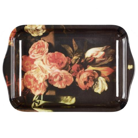 Floral Still Life With Roses Small Tray