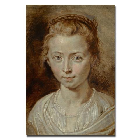 Portrait of the Artist's Daughter, Clara Serena Sir Peter Paul Rubens Notebook
