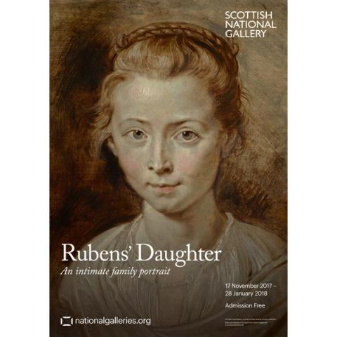 Rubens' Daughter: An Intimate Family Portrait Exhibition Poster