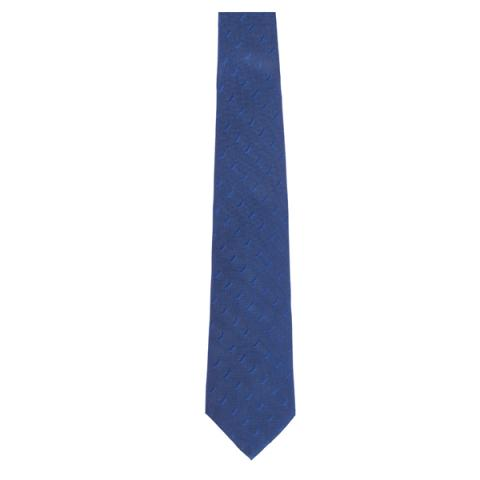 Reverend Walker repeat pattern blue silk tie
