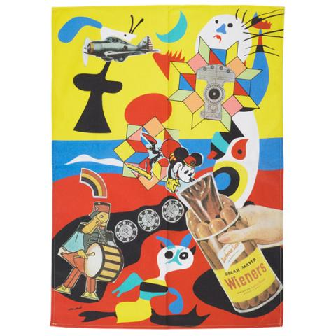 Sack O Sauce by Eduardo Paolozzi tea towel