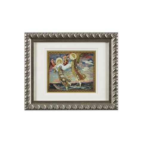 Saint Bride ready to hang silver ornate framed print