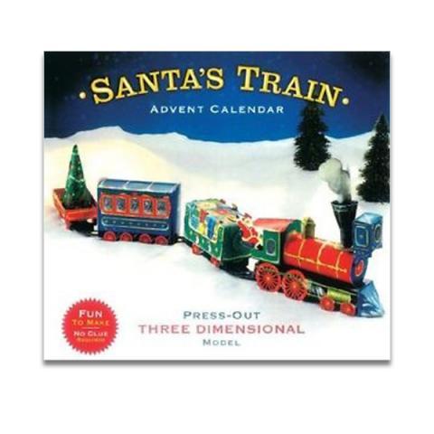 Santa train 3D advent calendar